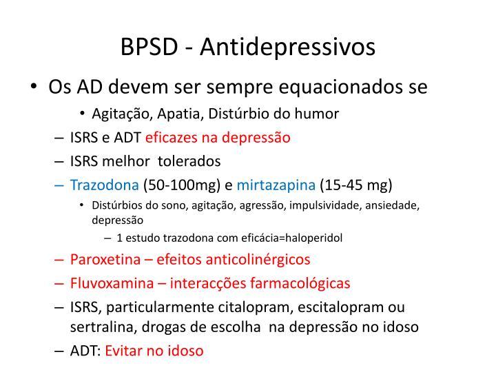 BPSD - Antidepressivos