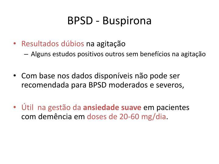 BPSD - Buspirona