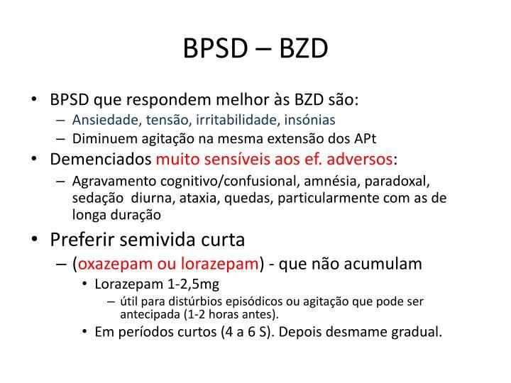BPSD – BZD