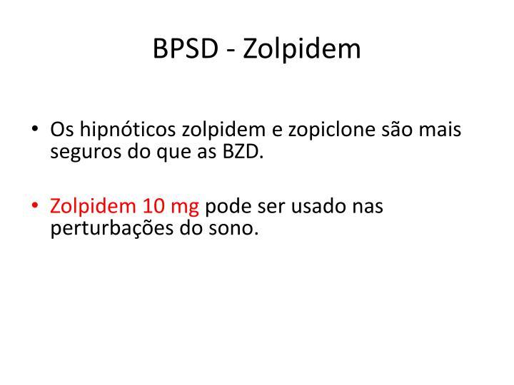 BPSD - Zolpidem