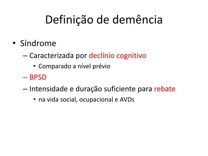 Definição de demência