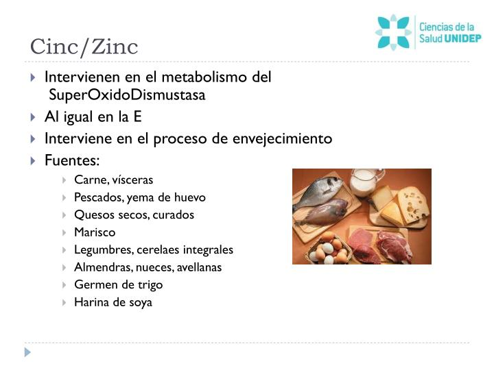 Cinc/Zinc