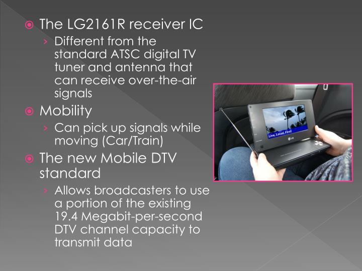 The LG2161R receiver IC