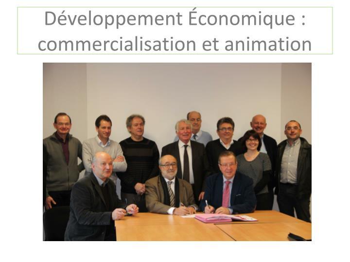 Développement Économique : commercialisation et animation