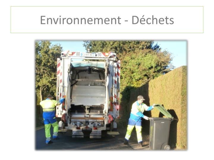 Environnement - Déchets