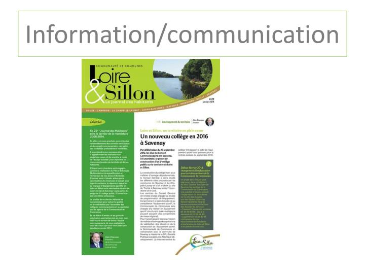 Information/communication