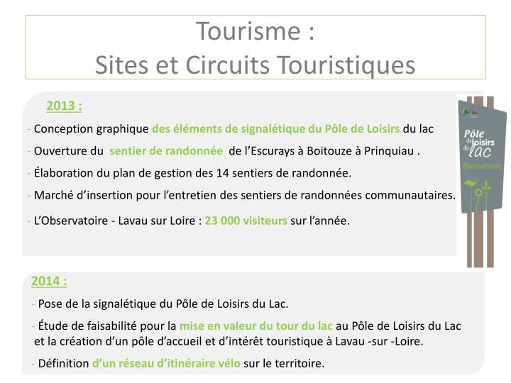 Tourisme :