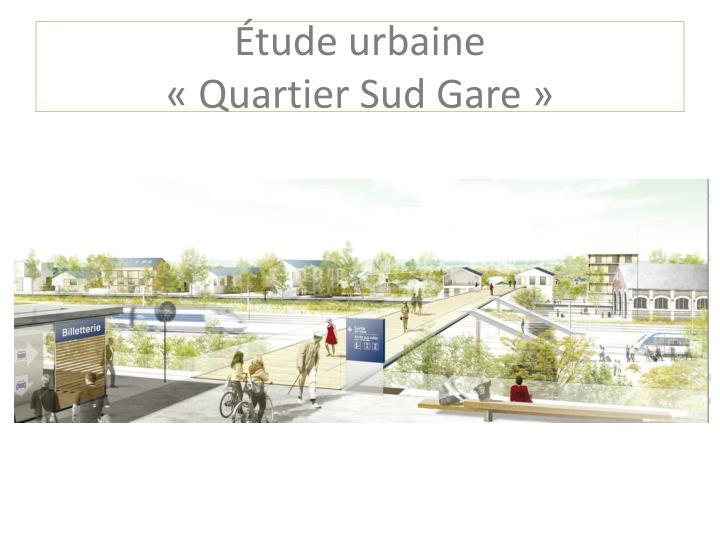 Étude urbaine