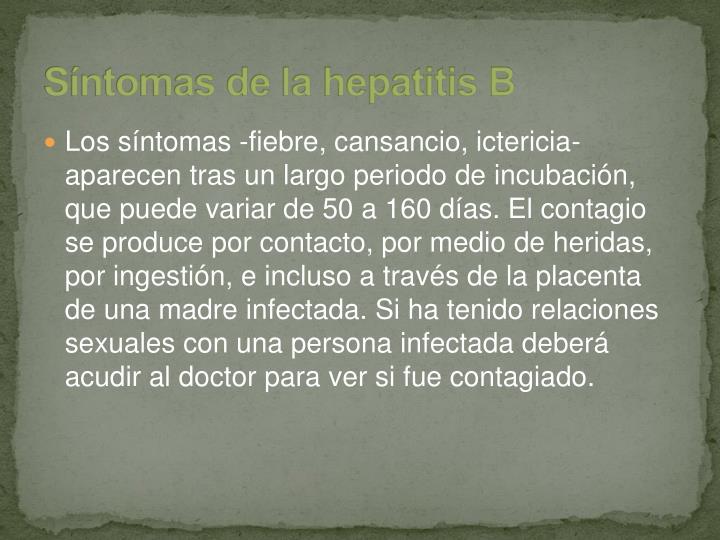 Síntomas de la hepatitis B