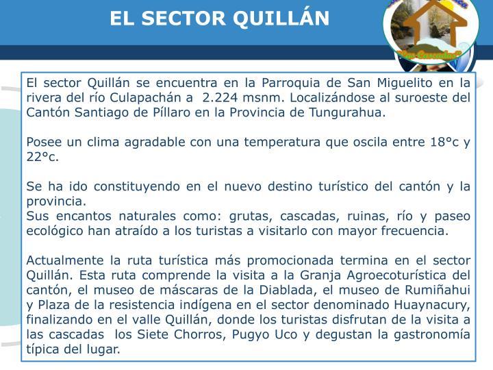 EL SECTOR QUILLÁN