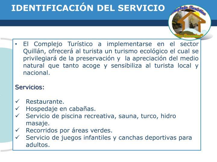 IDENTIFICACIÓN DEL SERVICIO