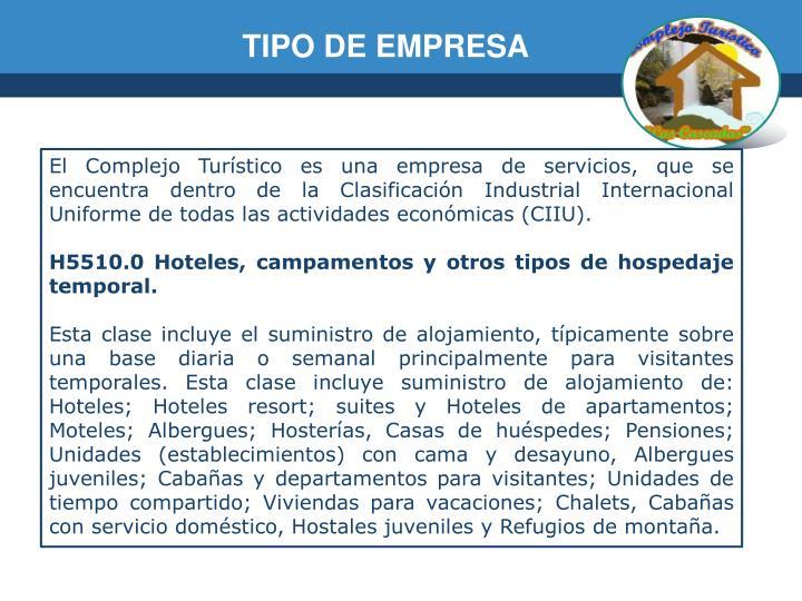 TIPO DE EMPRESA