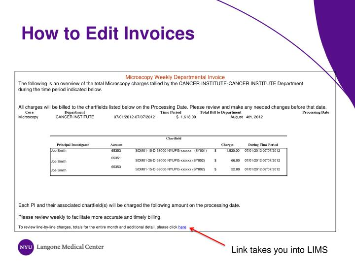How to Edit Invoices
