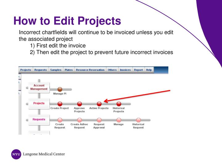 How to Edit Projects