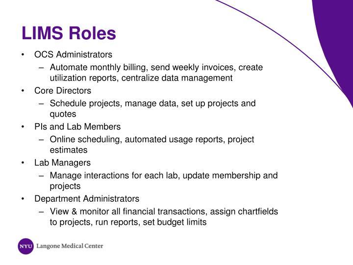LIMS Roles