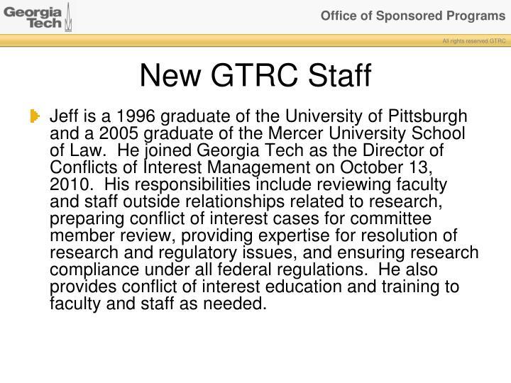 New GTRC Staff