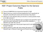 nsf project outcomes report for the general public