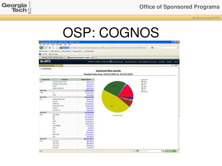 OSP: COGNOS