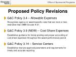 proposed policy revisions