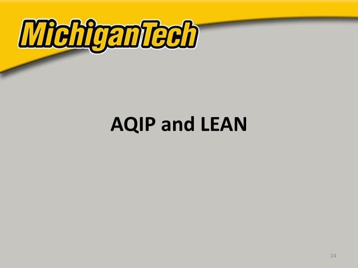 AQIP and LEAN