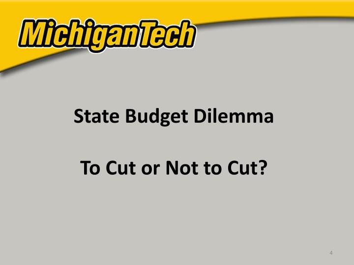 State Budget Dilemma
