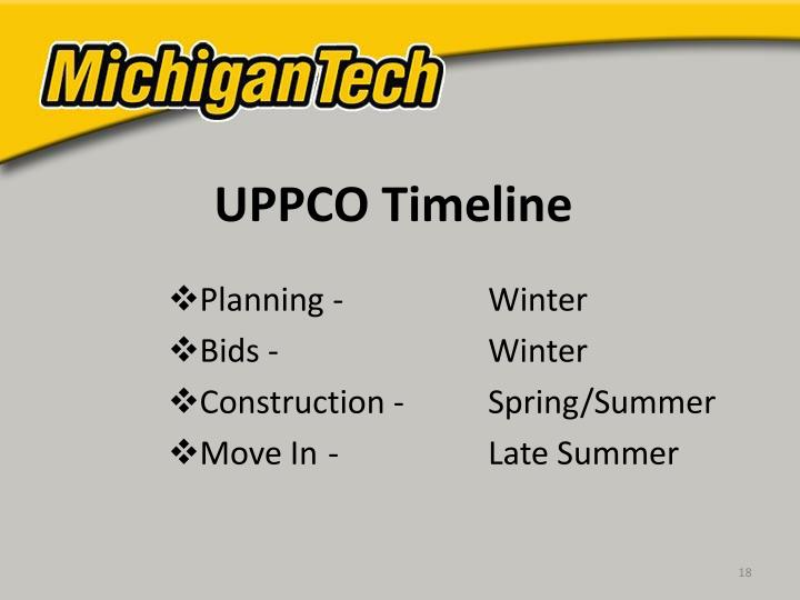 UPPCO Timeline