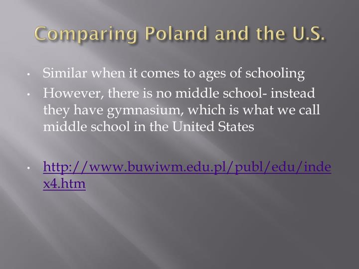 Comparing Poland and the U.S.