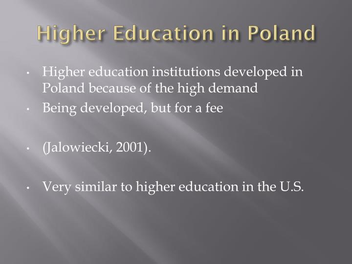 Higher Education in Poland