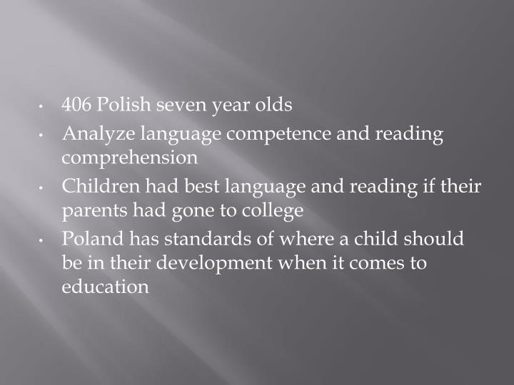 406 Polish seven year olds