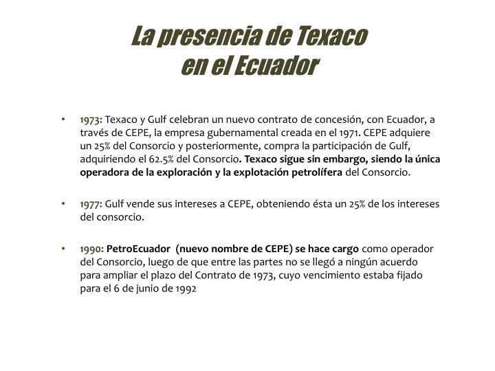 La presencia de Texaco