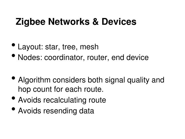 Zigbee Networks & Devices