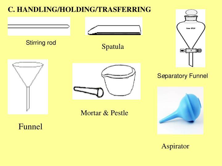 C. HANDLING/HOLDING/TRASFERRING