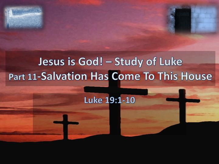 A discussion on jesus as a bringer of gods salvation