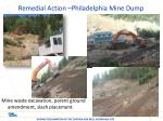 remedial action philadelphia mine dump