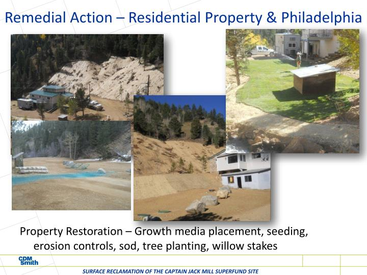 Remedial Action – Residential Property & Philadelphia