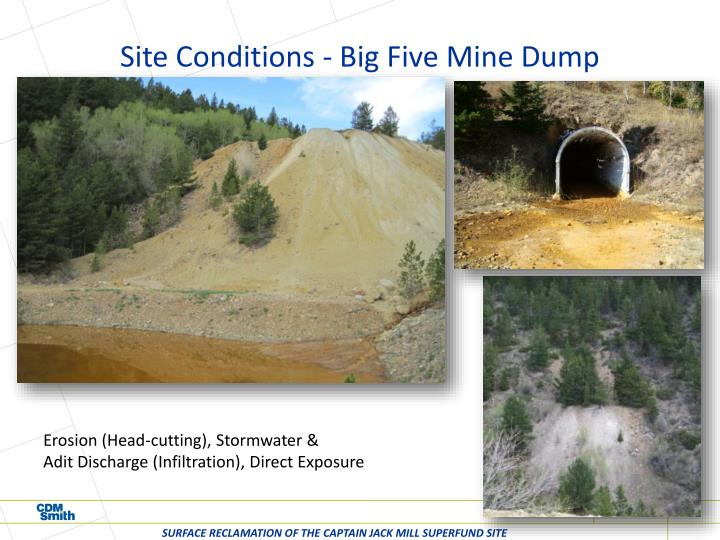 Site Conditions - Big Five Mine Dump