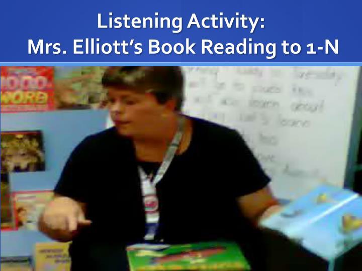 Listening Activity: