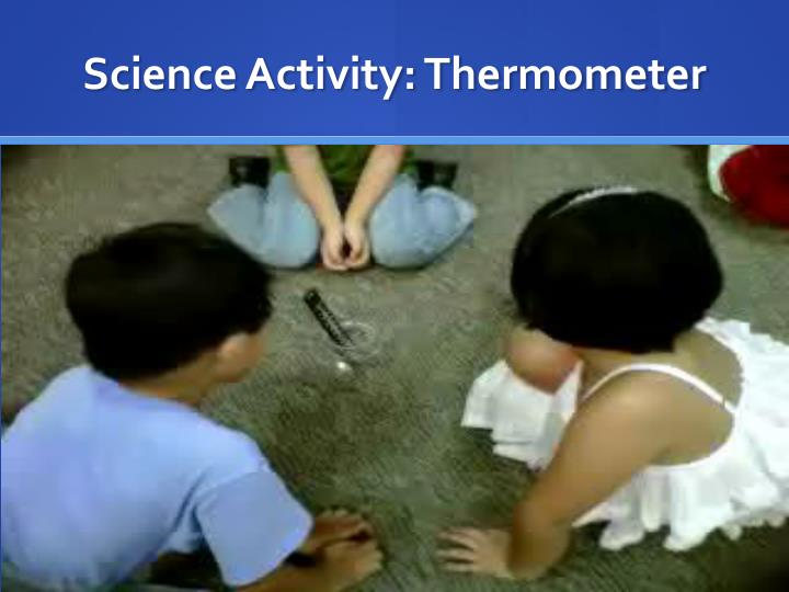 Science Activity: Thermometer