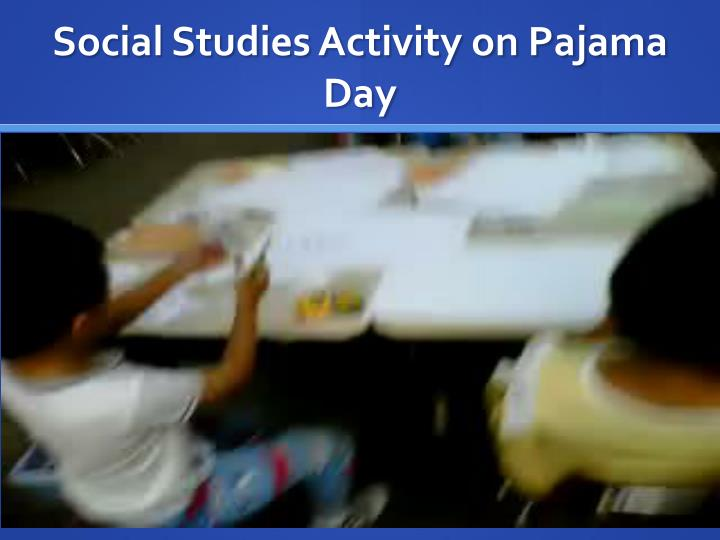 Social Studies Activity on Pajama Day