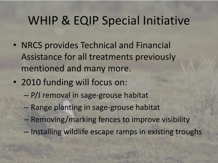 WHIP & EQIP Special Initiative