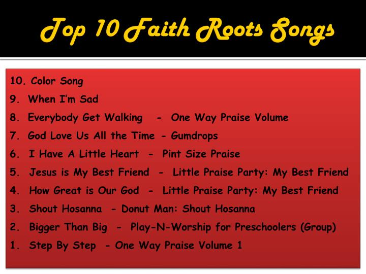 Top 10 Faith Roots Songs