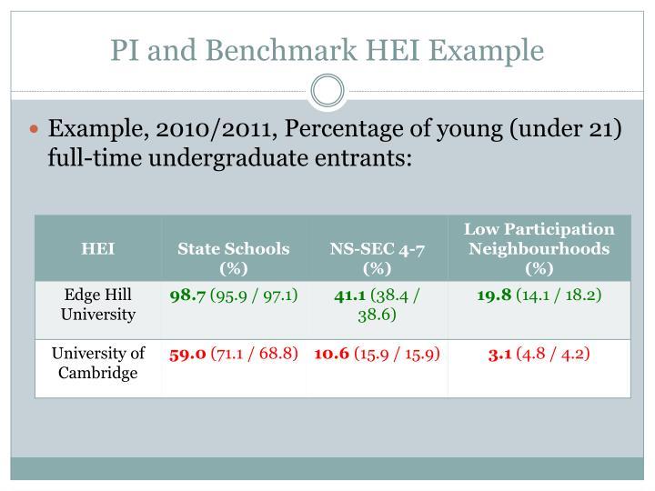 PI and Benchmark HEI Example