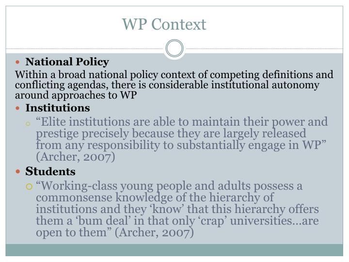 WP Context