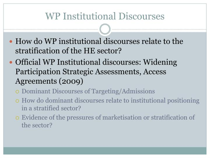 WP Institutional Discourses