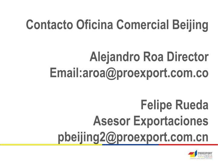 Contacto Oficina Comercial Beijing