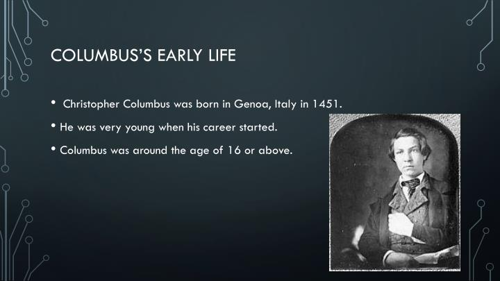 Columbus s early life