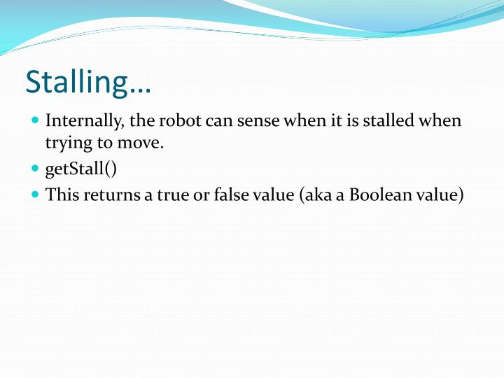 Stalling…