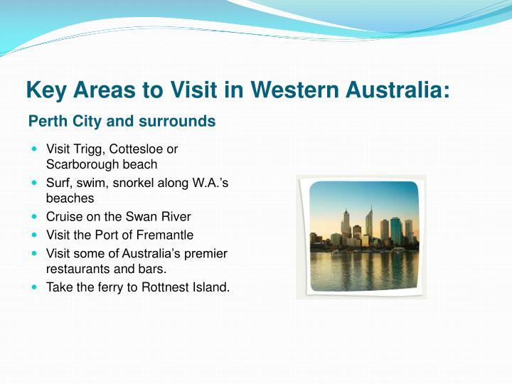 Key Areas to Visit in Western Australia: