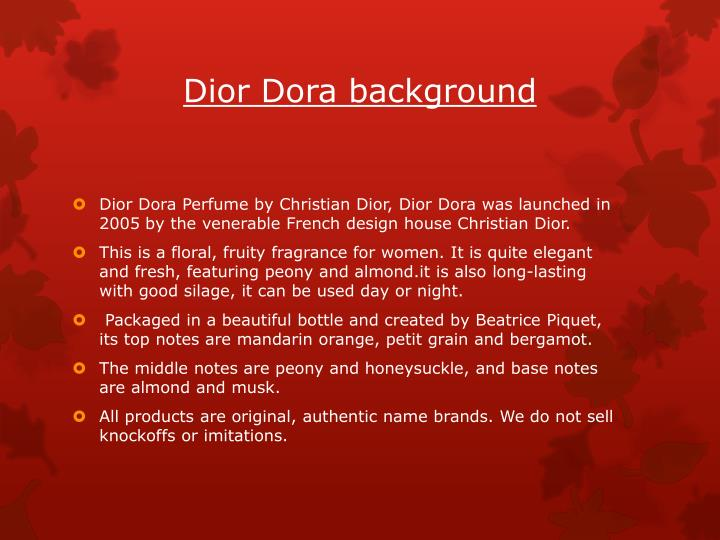 Dior Dora background