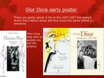 dior dora early poster